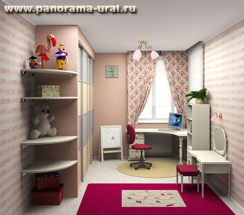 Дизайн-проект детской комнаты в Екатеринбурге